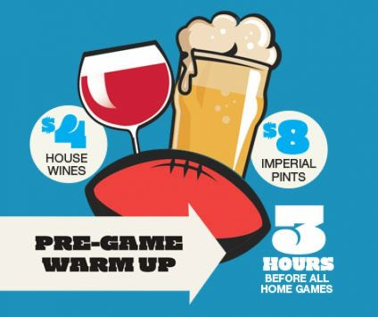 1. Pre-game warm up drinks